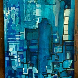 Luise Andersen, , , Original Painting Acrylic, size_width{my_blue_black_5_jan_13_2018-1515890347.jpg} X 19 inches