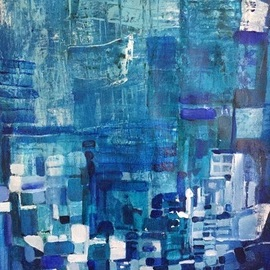 Luise Andersen, , , Original Painting Acrylic, size_width{my_blue_black_jan10_2018-1515631691.jpg} X 19 inches