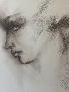 Luise Andersen, 'Stage 2 Detail 1', 2018, original Drawing Charcoal, 18 x 24  inches. Artwork description: 2703 June 1,2018- i express. . no need to describe it away . . dark sepia on textured w cpaper. . ...