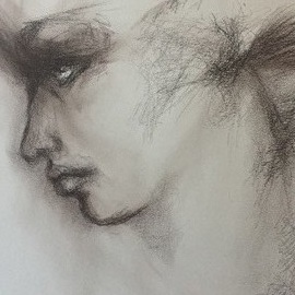 Luise Andersen, , , Original Drawing Charcoal, size_width{stage_2_detail_1-1528241964.jpg} X 24 inches