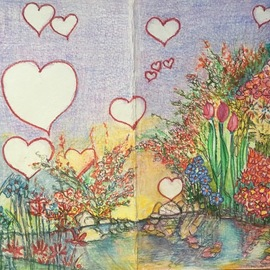 Luise Andersen, , , Original Drawing Other, size_width{thank_you_valentine_card_2-1518487260.jpg} X 9 inches