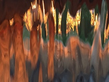 Luise Andersen untouched original images of SUNSET IN FONTANA FOUNTAINS I, 2015