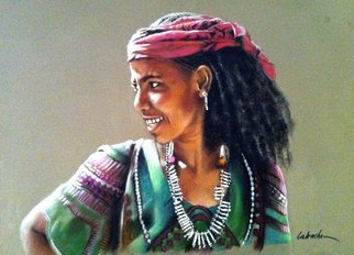 Abderrahmane Latrache; Ethiopian Women , 2013, Original Pastel, 80 x 60 cm. Artwork description: 241  african pastel art  ...