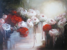 Artist: Jane De France's, title: Passionate Red, 2012, Painting Acrylic