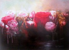 Artist: Jane De France's, title: Rose Water, 2011, Painting Acrylic