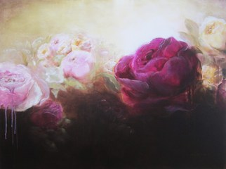 Jane De France, The Wild Rose Garden, 2011, Original Painting Acrylic, size_width{The_Wild_Rose_Garden-1350272799.jpg} X 90 x  cm