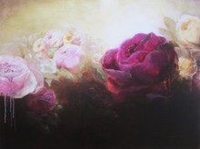 Artist: Jane De France's, title: The Wild Rose Garden, 2011, Painting Acrylic
