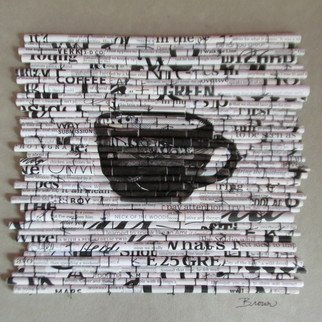 Laurie Brown; Black Coffee, 2014, Original Paper, 11 x 11 inches. Artwork description: 241  This is the fourth image in a new series I'm calling