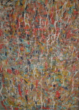Laurie Vaughn MultiMedia All Over Abstract Expressionist Painting, 2002