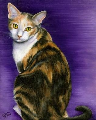 Leanne Wildermuth; Custom Cat Portrait Sample, 2004, Original Painting Oil, 10 x 8 inches. Artwork description: 241 Custom Cat Portrait Sample...