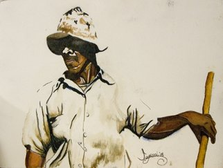 Legassi Brumbaugh; Sharecropper, 2008, Original Watercolor, 30 x 22 inches.
