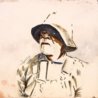 Legassi Brumbaugh; Sharecropper II, 2008, Original Watercolor, 22 x 22 inches.