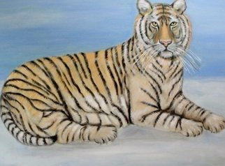Rita Levinsohn; Tiger Tiger, 2016, Original Painting Acrylic, 40 x 30 inches. Artwork description: 241 Animal is endangered...