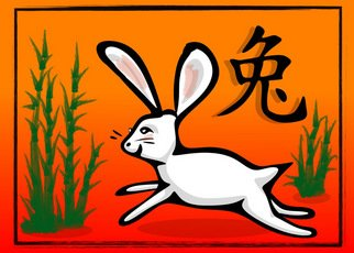 L Gonzalez, Bamboo Year of the Rabbit, 2011, Original Digital Art, size_width{Bamboo_Year_of_the_Rabbit-1297055646.jpg} X 20 x  inches