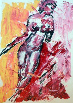 Leif Peterson; Untitled Nude III, 2012, Original Painting Oil, 11 x 15 inches.