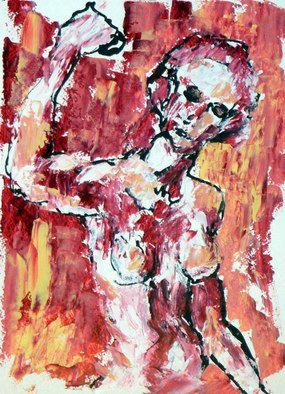 Leif Peterson; Untitled Nude V, 2012, Original Painting Oil, 11 x 15 inches.