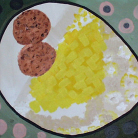 Leo Evans, , , Original Painting Acrylic, size_width{EGGS_GRITS_AND_STRAWBERRY_JAM-1203109398.jpg} X 20 inches