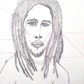 Leo Evans, , , Original Drawing Other, size_width{MR_BOB_MARLEY_1-1190970252.jpg} X 24 inches