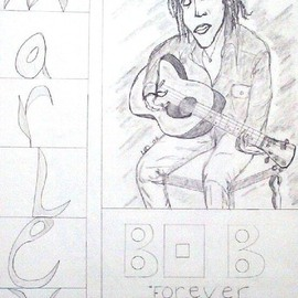 Leo Evans, , , Original Drawing Other, size_width{MR_BOB_MARLEY_2-1190970386.jpg} X 24 inches