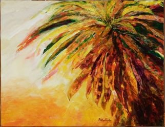 Patsy Mair; Flair Of The Croton, 2005, Original Painting Acrylic, 25 x 18 inches. Artwork description: 241 Exploding in a riot of colour the Croton displays its spiral coronets with tropical dash and daring in the blaze of sunlight. ...