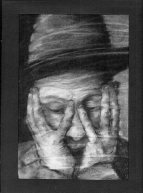 Laurie Hendricks; Why, 2008, Original Drawing Charcoal, 8 x 11 inches.