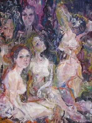 Lidya Tchakerian; Eirene, 2004, Original Painting Oil, 38 x 48 inches. Artwork description: 241 New Expressionist, Neo Expressionist, oil on canvas...