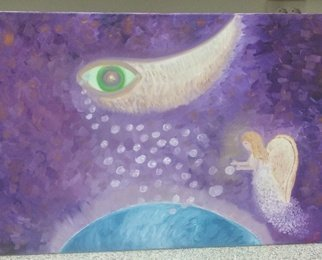 Cucu Corina; The Eye Of God, 2018, Original Painting Oil, 70 x 50 cm. Artwork description: 241 Intuitive paint...