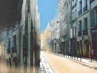 Liesbeth Joosten Alias Lijoo; Street In Paris, 2005, Original Photography Other, 40 x 30 cm. Artwork description: 241 Digital painted photograph of a street in Paris in quartier Saint- Germain des Pres. With balanced colour substitution and painting with the mouse the picture is created.Limited to 10 printings, each numbered and signed by Lijoo. ...