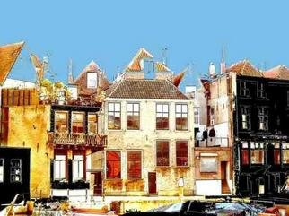 Liesbeth Joosten Alias Lijoo; Wine Harbour In  Dordrecht, 2004, Original Photography Other, 40 x 30 cm. Artwork description: 241 Digital painted photograph of the  WineHarbour in Dordrecht an old town in Holland/ Netherlands. With colour- floodfill and drawing with the mouse the painting is created.Limited to 10 printings, each numbered and signed by Lijoo....