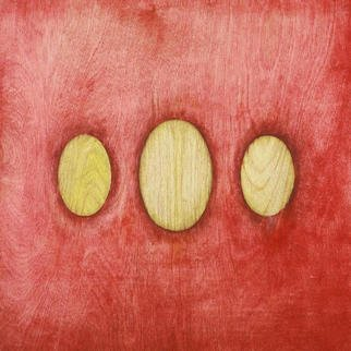 Lillian Abel; YellowTrinity, 2001, Original Painting Oil, 24 x 24 inches. Artwork description: 241 Oil on Birch, Untitled ( Yellow Trinity)...