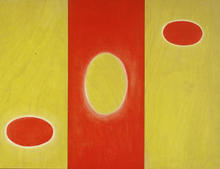 Artist: Lillian Abel's, title: redwhiteyellow, 2002, Painting Oil