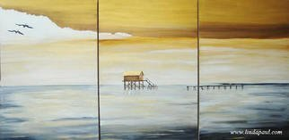 Linda Paul; Metaphor Contemporary Sea..., 2011, Original Printmaking Giclee, 60 x 36 inches. Artwork description: 241 each canvas artwork in this set of three is 24