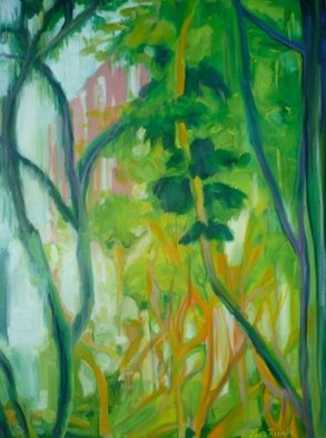 Lisa Reinke; Jungle Look, 2009, Original Pastel Oil, 30 x 40 inches. Artwork description: 241  Exploring and capturing Singapore's look and feel. ...
