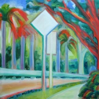 Lisa Reinke; Signs, 2008, Original Painting Oil, 18 x 18 inches. Artwork description: 241  Part of my 20/ 20 series as I explore and document my experiences in Singapore. ...