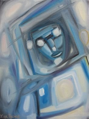 Lisa Reinke; Spaceman, 2008, Original Painting Oil, 12 x 16 inches. Artwork description: 241  My abstract astronaut is part of the space he visits. ...