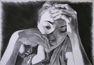 Lisa Davie; LITTLE ONE, 2005, Original Drawing Charcoal, 112 x 77 cm.