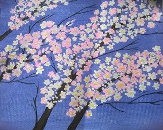 Reena Thomas; Cherry Blossom, 2014, Original Painting Acrylic, 10 x 8 inches.