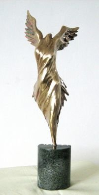Liubka Kirilova; Bronze abstract sculprure..., 2016, Original Sculpture Bronze, 8 x 24 cm. Artwork description: 241  Sculpture Bronze NIKE - Victory Goddess abstract statue ...
