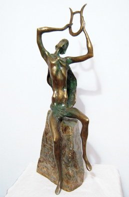 Liubka Kirilova;  ORPHEUS, 2016, Original Sculpture Bronze, 12 x 47 inches. Artwork description: 241  Bronze sculpture ORPHEUSUnique Contemporary Art...