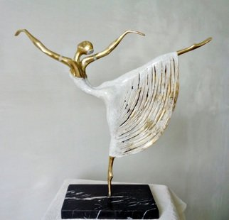Liubka Kirilova; ballerina, 2016, Original Sculpture Bronze, 38 x 40 cm. Artwork description: 241 Bronze sculpture BALLERINA Unique Original...