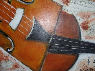 Liz Sutcliffe; My Cello, 2009, Original Painting Acrylic,   inches.