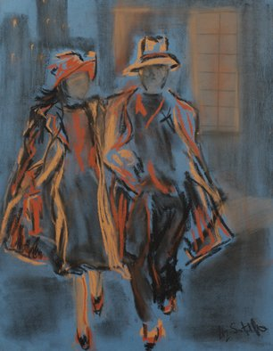 Liz Sutcliffe; Partners, 2009, Original Pastel, 10 x 14 inches. Artwork description: 241  Prints taken from original artwork. ...