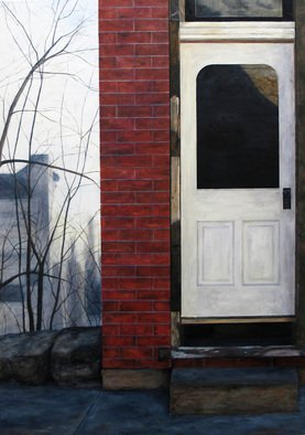 Lindsey Larsen; Exterior I, 2008, Original Painting Oil, 30 x 42 inches.