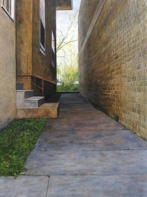 Lindsey Larsen; Exterior III, 2008, Original Painting Oil, 30 x 40 inches.