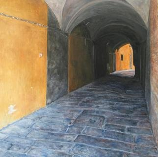 Lindsey Larsen; Italy II, 2006, Original Painting Oil, 24 x 24 inches.