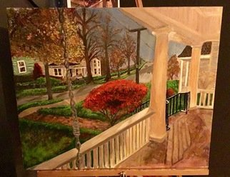 Linda Lewis, Kentucky porches, 2017, Original Painting Acrylic, size_width{kentucky_porches-1488237419.jpg} X 24 inches