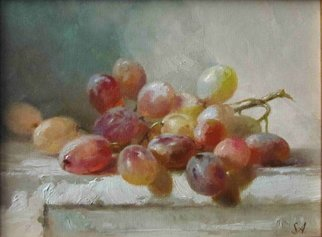 Serge Akopov; Grapes, 2016, Original Painting Oil, 15 x 20 cm. Artwork description: 241 painting, still life, oil painting, grapes, fruits...