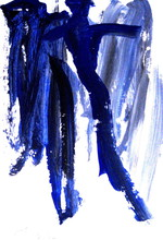 Artist: Lois Di Cosola's, title: Blues, 2004, Painting Acrylic