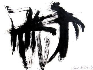 Lois Di Cosola; Brush, 2010, Original Drawing Ink, 10.9 x 12 inches. Artwork description: 241 brush painting on paper ...