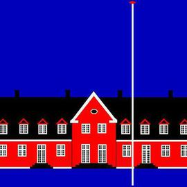 Artist: Asbjorn Lonvig title: Denmark Forty Eight Wiliamsborg Manor House, 2005, Original Acrylic Painting